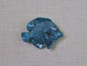 6Teal Fish Pin