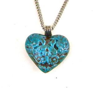 Turquoise heart pendant copy